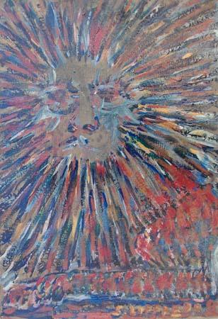 Art work by Silvio Loffredo Solleone - oil cardboard